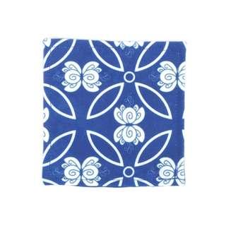 Dew Blue Glass Coaster 10 x 10