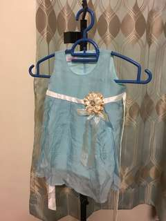 Lovely Lace Blue Dress