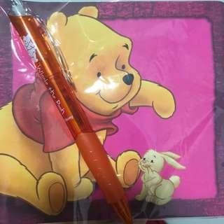 Pooh Bear note book & pen set