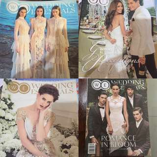 4pcs wedding essentials magazines