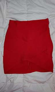 🌻 Red Bandage Skirt