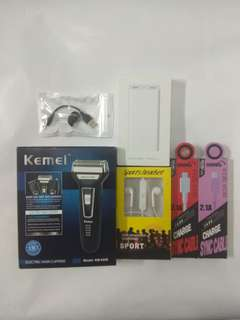 All item#power bank 20000Mah#shaver#Bluetooth headset# Charging cable