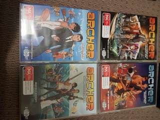 Archer seasons 1 to 4 DVD