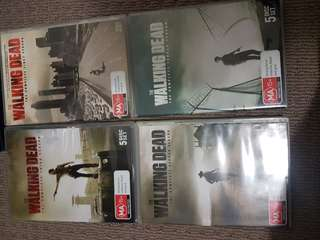 Walking dead dvds seasons 1 to 4