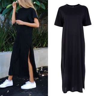 Long Casual Dress with Side Slide
