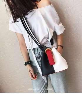 🚚 預購子母包®️韓版軟皮小型手拿包肩背包側背包拉鍊包小化妝包運動寬肩帶水桶包