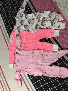 Preloved baby pajamas
