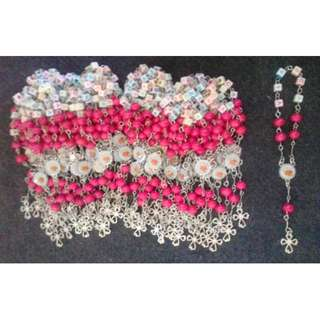 Wood Pocket Rosary with Name Soiuvenir and Giveaways