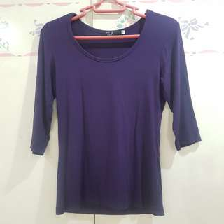 Purple 3/4 Top