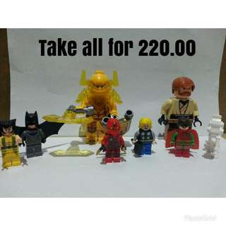 LEGO-Like Ninjago, Marvels, Nexo knights, Star Wars