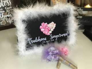 Wedding Guest Book Autograph Book with 2 Pens to Sign Wishes