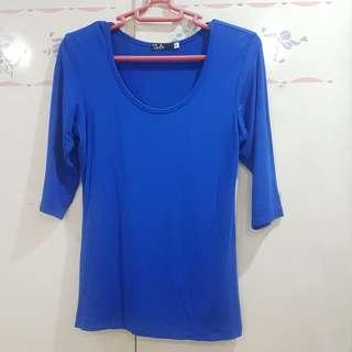 Blue 3/4 Top