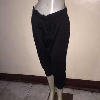 INTENSITY black gartered tokong/dance/zumba pants large