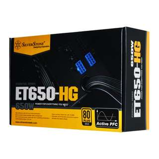 SILVERSTONE Essential 650W 80 Plus Gold Semi-Modular Power Supply (FLAT Cable)