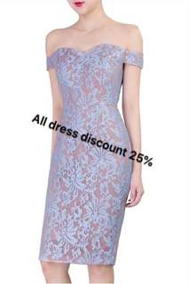 All dress discount 25% ;