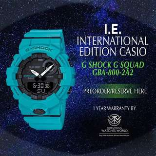 CASIO INTERNATIONAL EDITION G SHOCK G SQUAD GBA800-2A2