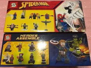 Instock limited Stock !!! Super hero and spiderman toy set brand new .. suitable for goodies bag gift .. bulk purchase pls pm me