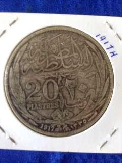 1917H Egypt 20 Plastres