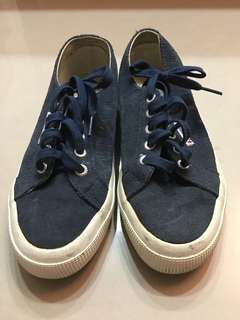 Superga麂皮帆布鞋