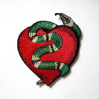Snake Heart Love Gucci Cross Body Sew On Patch