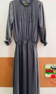 Longdress grey mirip ria miranda