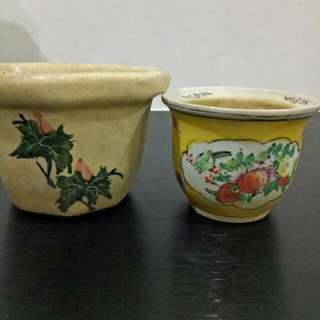 2 Pcs  - Flower Sweet Nice Pot