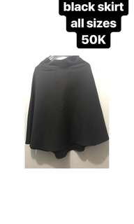 Black skirt all size