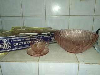 Set of 6pcs tea set + 2pcs large bowls