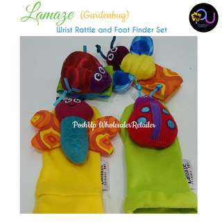 LAMAZE WRIST RATTLE & FOOT FINDER-Gardenbug