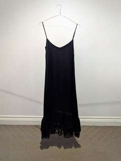 Black Zara Lace Slip Dress - Size S