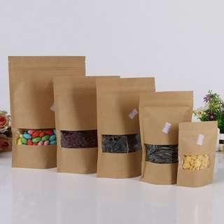 Ziplock Brown Bag