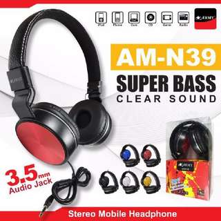 HEADPHONE ARMY AM N39 SUPERBASS with Mic
