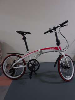 Foldable bicycle light weight
