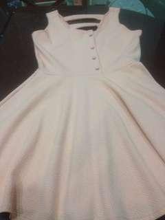 Mikaela peach dress