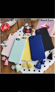 Iphone Case Candy Colors With Tassel