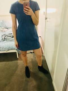 Blue Denim Dress Size 8