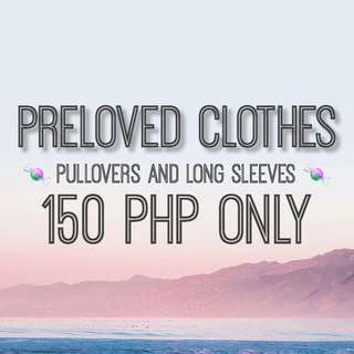 PRELOVED PULLOVERS AND LONG SLEEVES