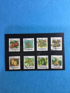 1986 National Fruit Definitive Set 8v. Used