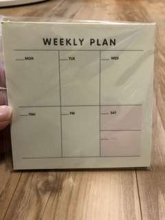 Weekly Planners/Monthly Planners/Checklist/Notepads-9.3cm Square/60sheets per pc/Free Local Mail