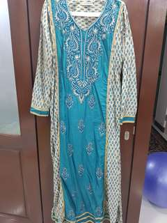 Kashkha Long Dress / Jubah with embroidery