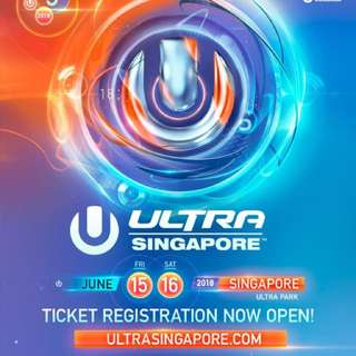 Ultra Tickets 2018