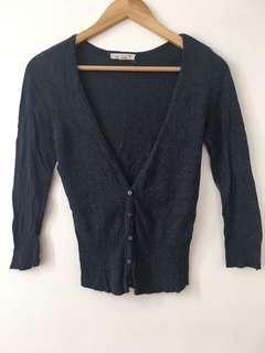 REPRICED Bluish gray cotton cardigan