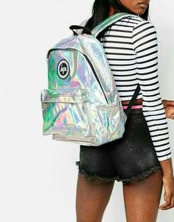 Authentic HYPE UK Holographic Backpack