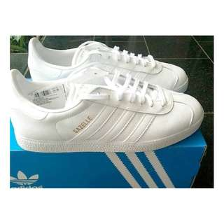 Adidas gazelle vintage triple white original 100%