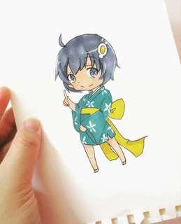 Chibi Anime Art Drawing Commission