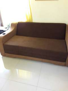 sofa bed brown