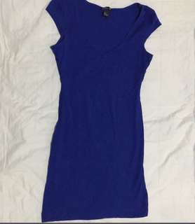 H&M Blue Sexy Fit bodycon