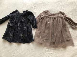 BABY GAP dress beautiful 6-12M tulle starry polka dot top baby girl dress