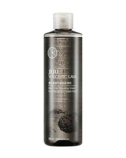 The Face Shop Jeju Volcanic Lava Black Clay Cleansing Water 320ml