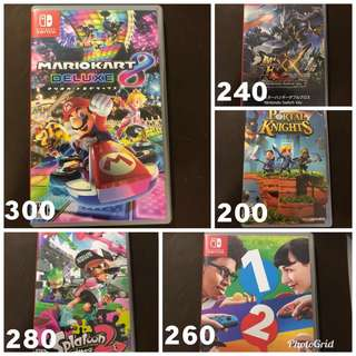 賣/ 換 Switch Game Mario Kart Splatoon 2 12 Switch MHXX Poryal Knights